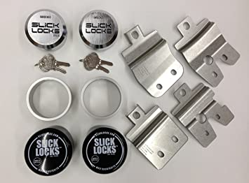 Slick Locks Chevy GMC Swing Door Kit Complete with Spinners, Weather covers  and Locks