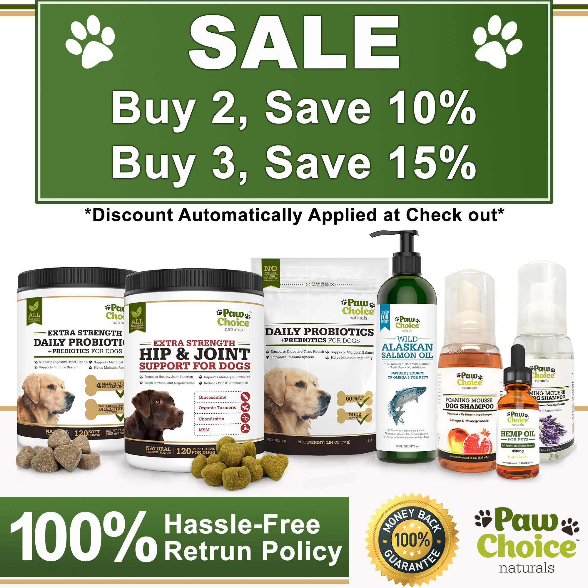 Probiotics for Dogs with Prebiotics - Daily Chews for Digestion, Regularity, Diarrhea Relief, Plus Supports Immune System and Health - Natural Supplement and Treat Made in USA by Paw Choice (Image #7)