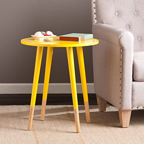 SEI Laney Round Table, Glossy Yellow