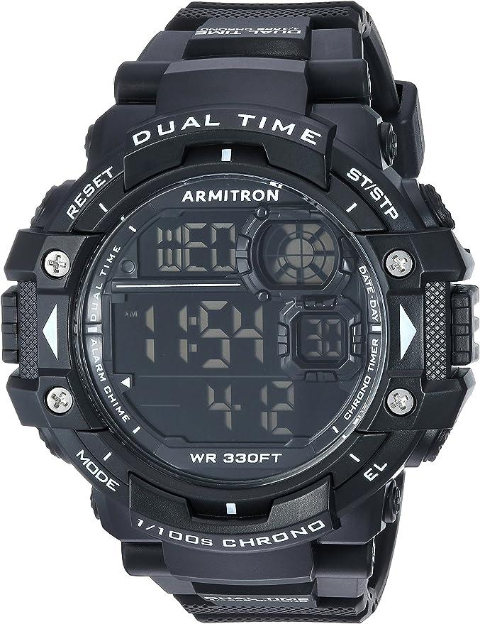 Armitron Sport Men's 40/8309BLK Digital Chronograph Black Resin Strap Watch