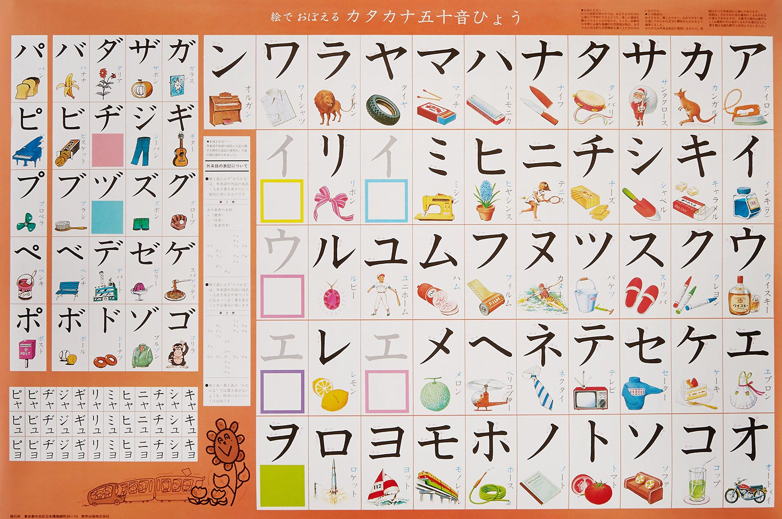 カタカナ五十音表 幼児用図表シリーズ 本 通販 Amazon