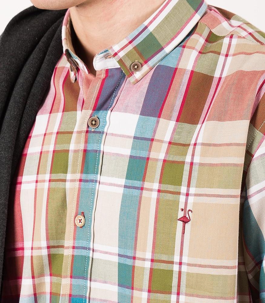 EL FLAMENCO Camisa Caballero ESPIGUILLA PERCHADA Cuadros, ÚNICO, 3 para Hombre: Amazon.es: Ropa y accesorios