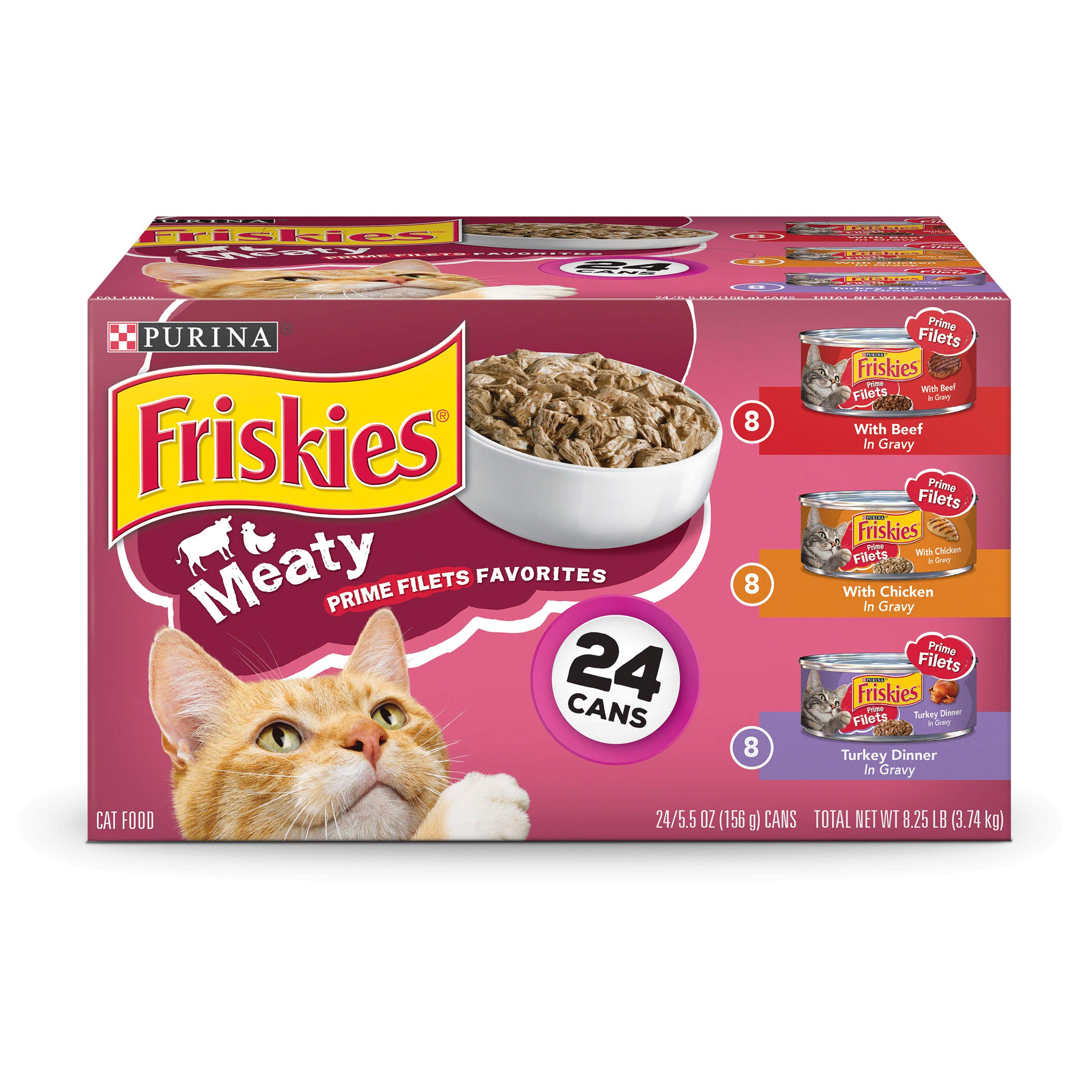 Purina Friskies Prime Filets Adult Wet Cat Food Variety Pack - (24) 5.5 oz