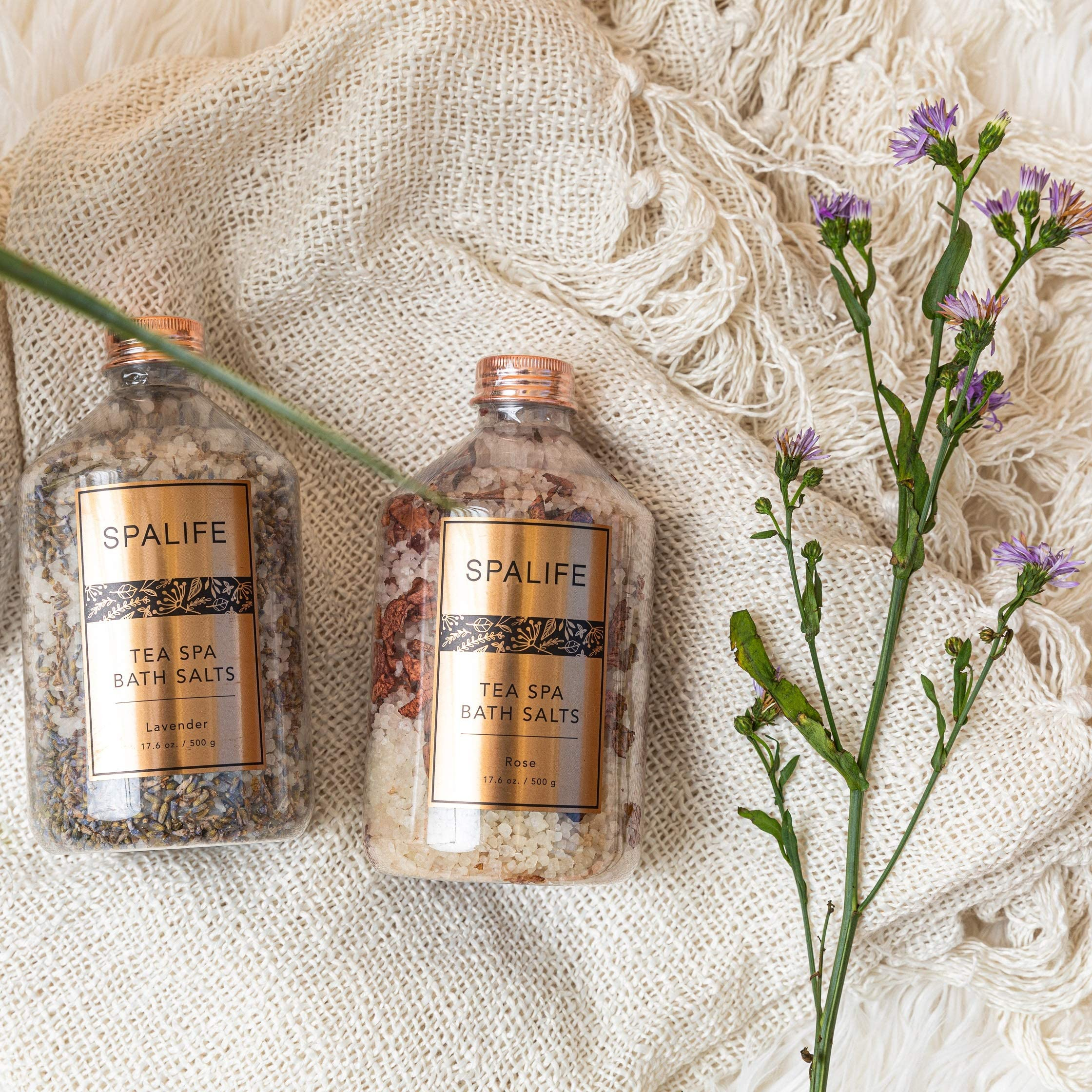 Soothing Petal-Infused Effervescent Mineral Bath Salts