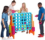 ECR4Kids Jumbo 4-to-Score Giant Game Set, Backyard Games for Kids, Jumbo Connect-All-4 Game Set, Indoor or Outdoor Game, Adul