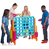 ECR4Kids ELR-12521 Jumbo 4-to-Score Giant Game Set, Backyard Games for Kids, Jumbo Connect-All-4 Game Set, Indoor or Outdoor