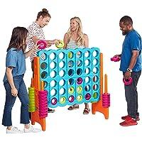 ECR4Kids Juego gigante de 4 puntuaciones – Diversión de 4 en una fila grande para niños, adultos y familias – Estructura de juego interior/exterior – 4 pies de altura, Juego Jumbo, Vibrante, Jumbo