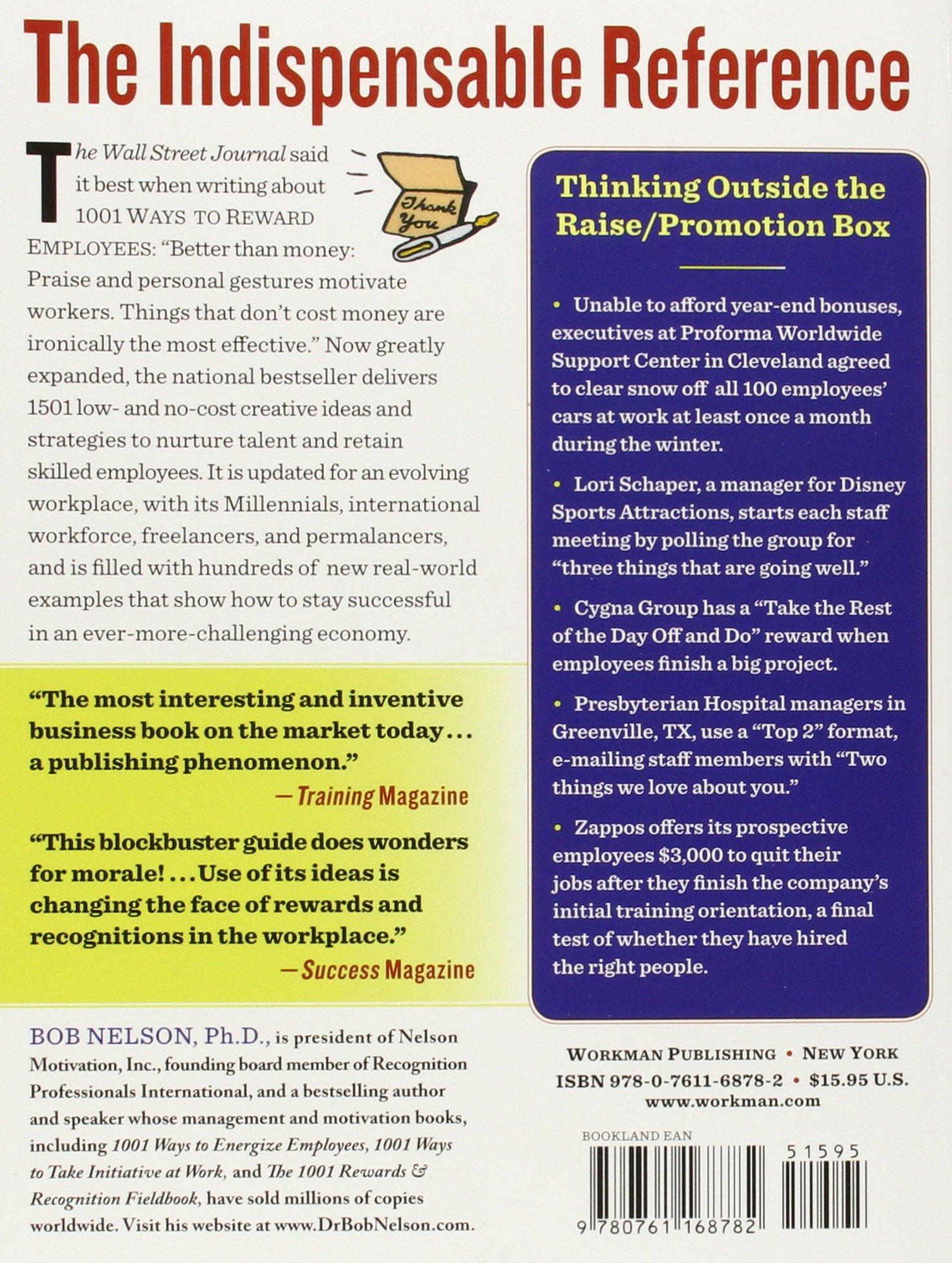 1501 Ways to Reward Employees: Bob Nelson Ph.D.: 9780761168782: Amazon.com:  Books