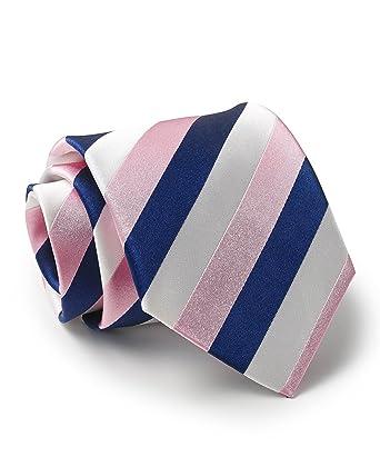 Savile Row - Corbata de seda para hombre, color azul marino, rosa ...