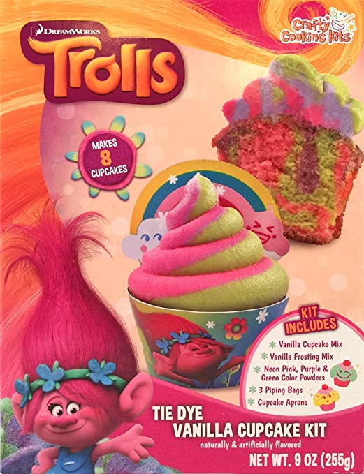 DreamWorks Trolls Tie Dye Cupcake Kit