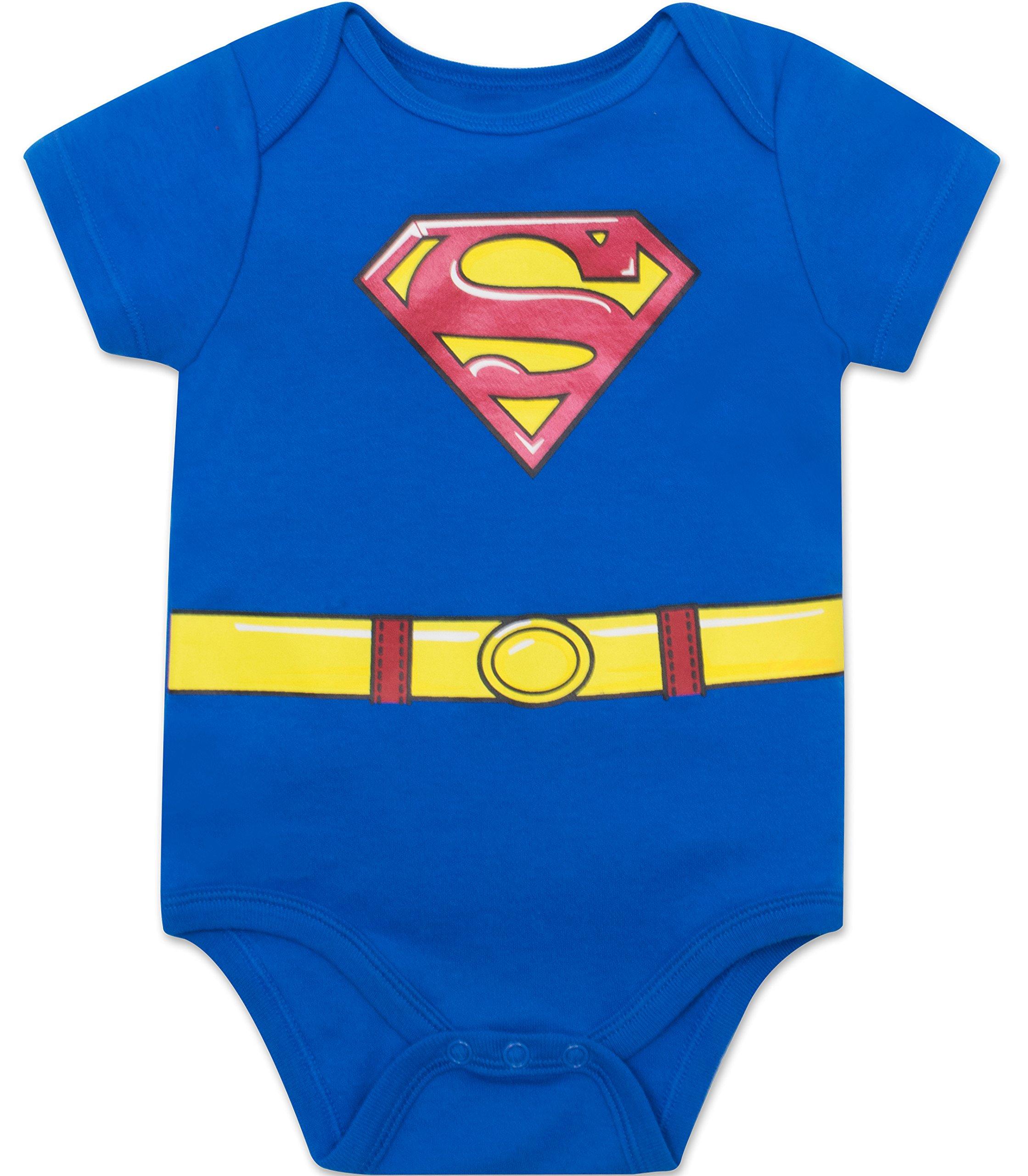 Justice League Baby Boys' 5 Pack Superhero Onesies - Batman, Superman, The Flash and Green Lantern (6-9M) by Warner Bros. (Image #5)