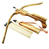 Adventure Awaits - Handmade Wood toy CrossBow set - 10 Wood Arrows and a Quiver - For Outdoor Play