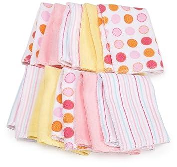 7e0d0d529 Amazon.com : Spasilk 10 Pack Soft Terry Washcloth, Pink : Baby Washcloths :  Baby