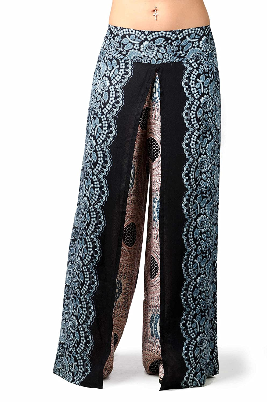 TCG Women's Wrap-Leg Print Pants - Black