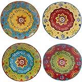 "Certified International 22450SET/4 Tunisian Sunset Dinner Plates (Set of 4), 10.5"", Multicolor"