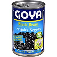 Goya Foods Black Beans Low Sodium, 15.5 Ounce