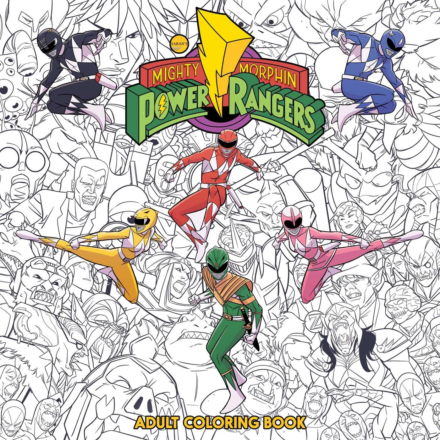 Mighty Morphin Power Rangers Adult Coloring Book: Hendry Prasetya ...