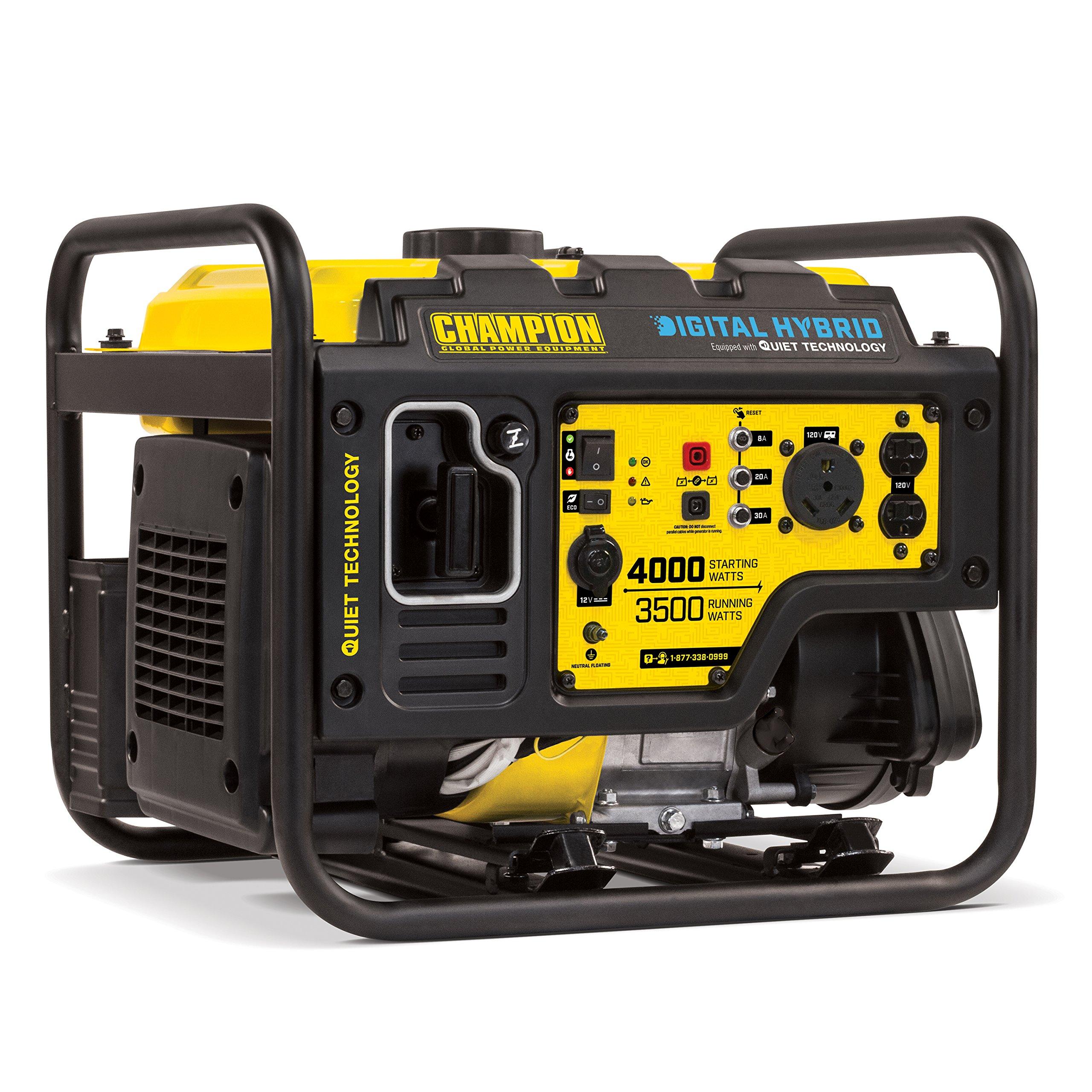 Champion 3500-Watt RV Ready Digital Hybrid Portable Generator with Quiet Technology by Champion Power Equipment