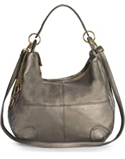 Womens Large Slouch Shoulder Handbag with Long Adjustable Strap - Ideal for Shopping Weekends College or Nappy Bag - GINA (GunMetal)