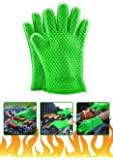 GM Kitchen, Silicone Oven Gloves, Heat Resistant + Pot Holder Mat For Grilling/ Baking/ Cooking/ Smoking / Oven/ Potholder, Best BBQ Grill Tool (2 Mitts + 1 Mat)