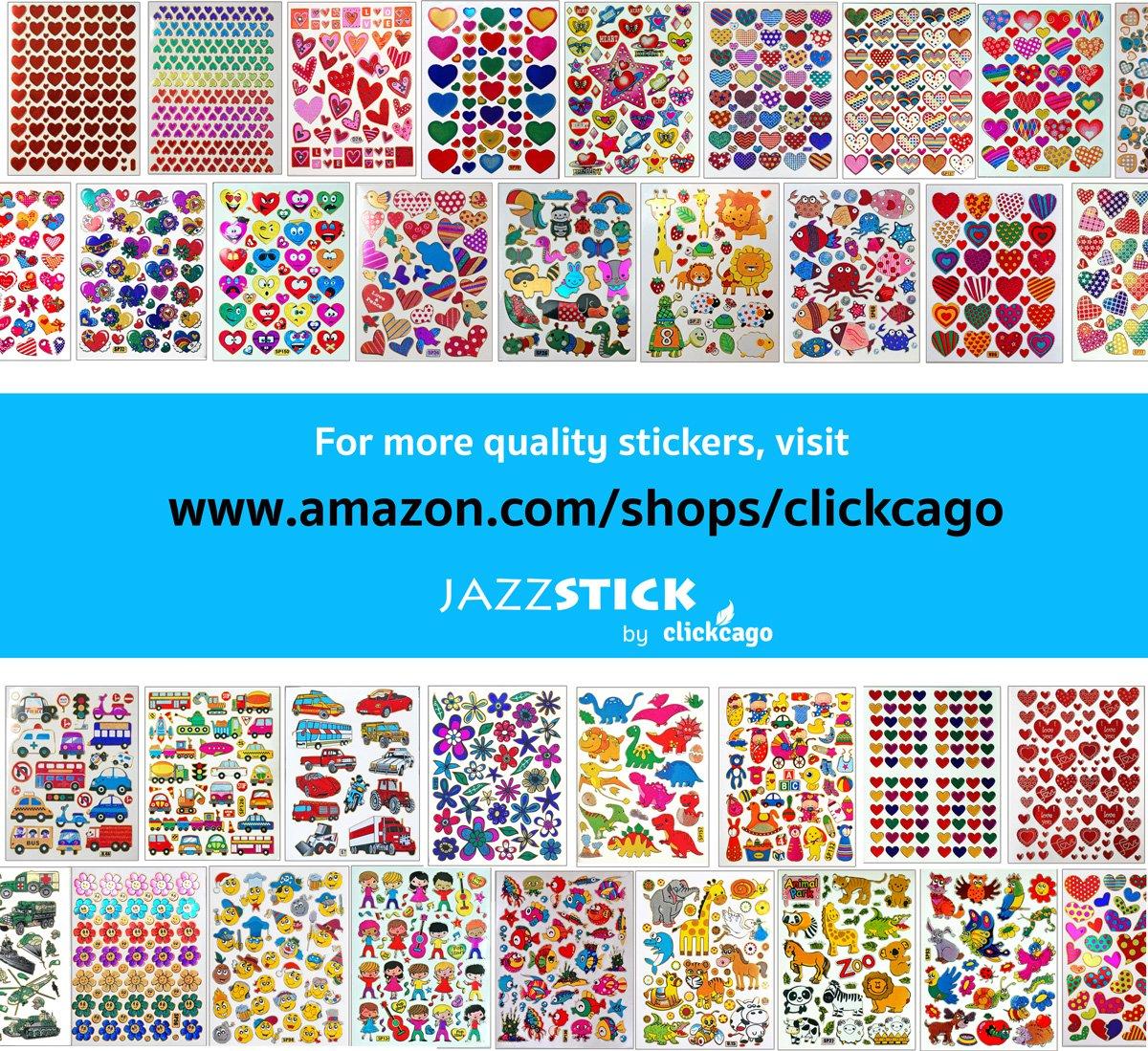 Amazon.com: Jazzstick 430 Valentine\'s day Red & Pink Heart Stickers ...
