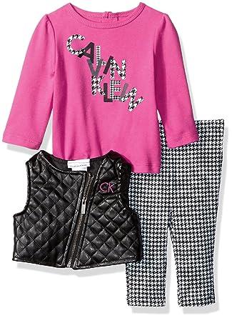 f06cb3659 Amazon.com: Calvin Klein Baby Girls' 3 Pc Vest Sets: Clothing