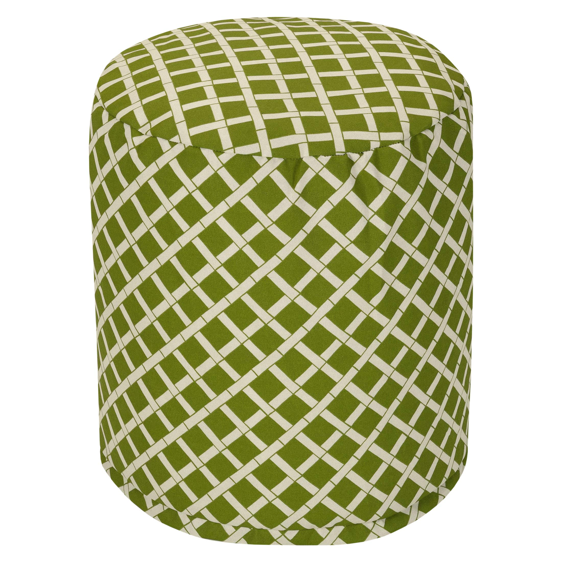 Majestic Home Goods Sage Bamboo Indoor/Outdoor Bean Bag Ottoman Pouf 16'' L x 16'' W x 17'' H by Majestic Home Goods (Image #1)