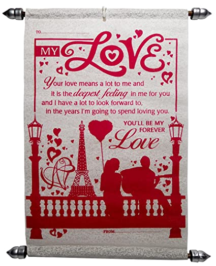 Love greeting cards for girlfriend love scroll greeting card love greeting cards for girlfriend love scroll greeting card m4hsunfo
