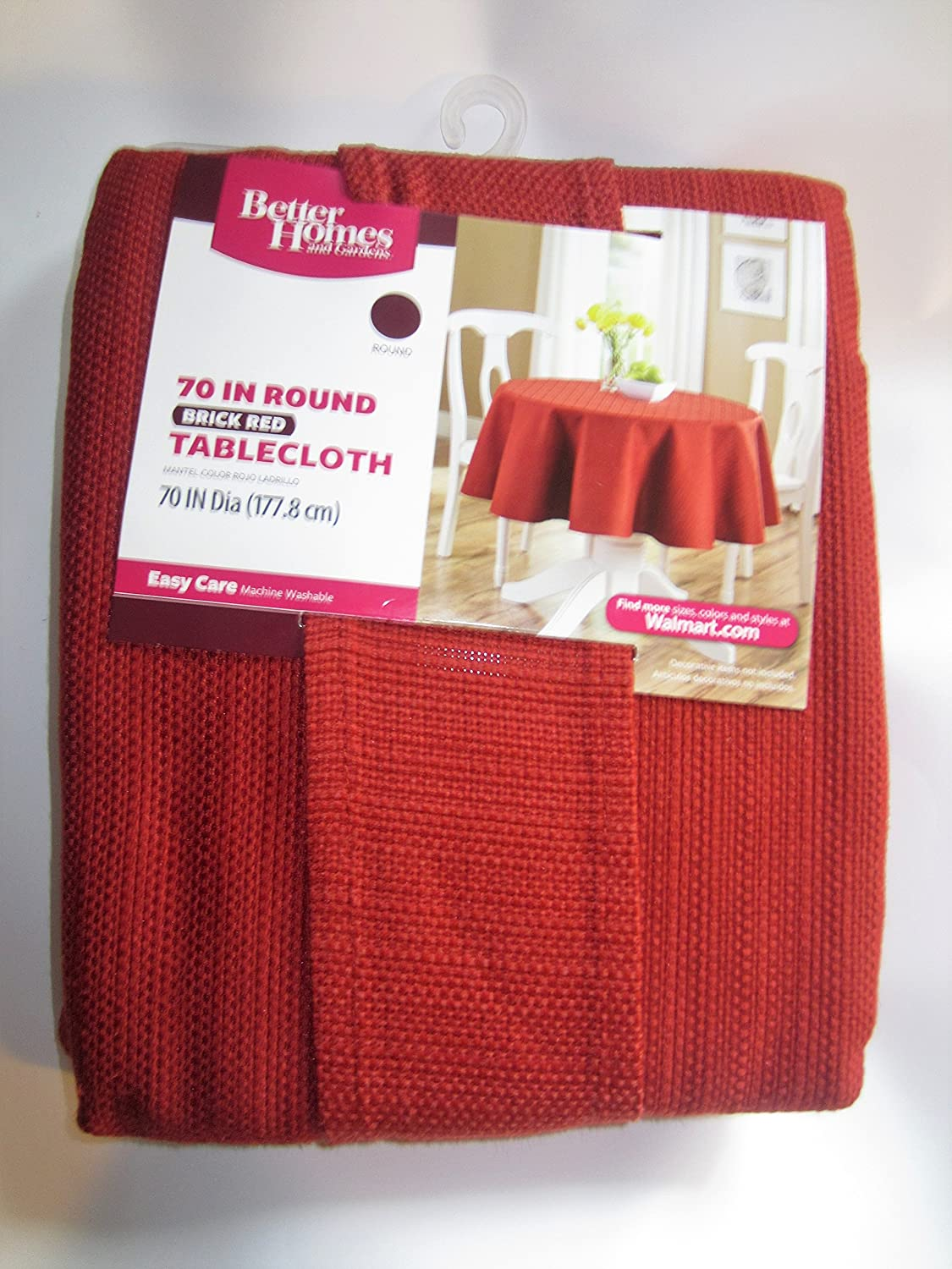 Better Homes and Gardens Brick Red Round 70' in. Tablecloth