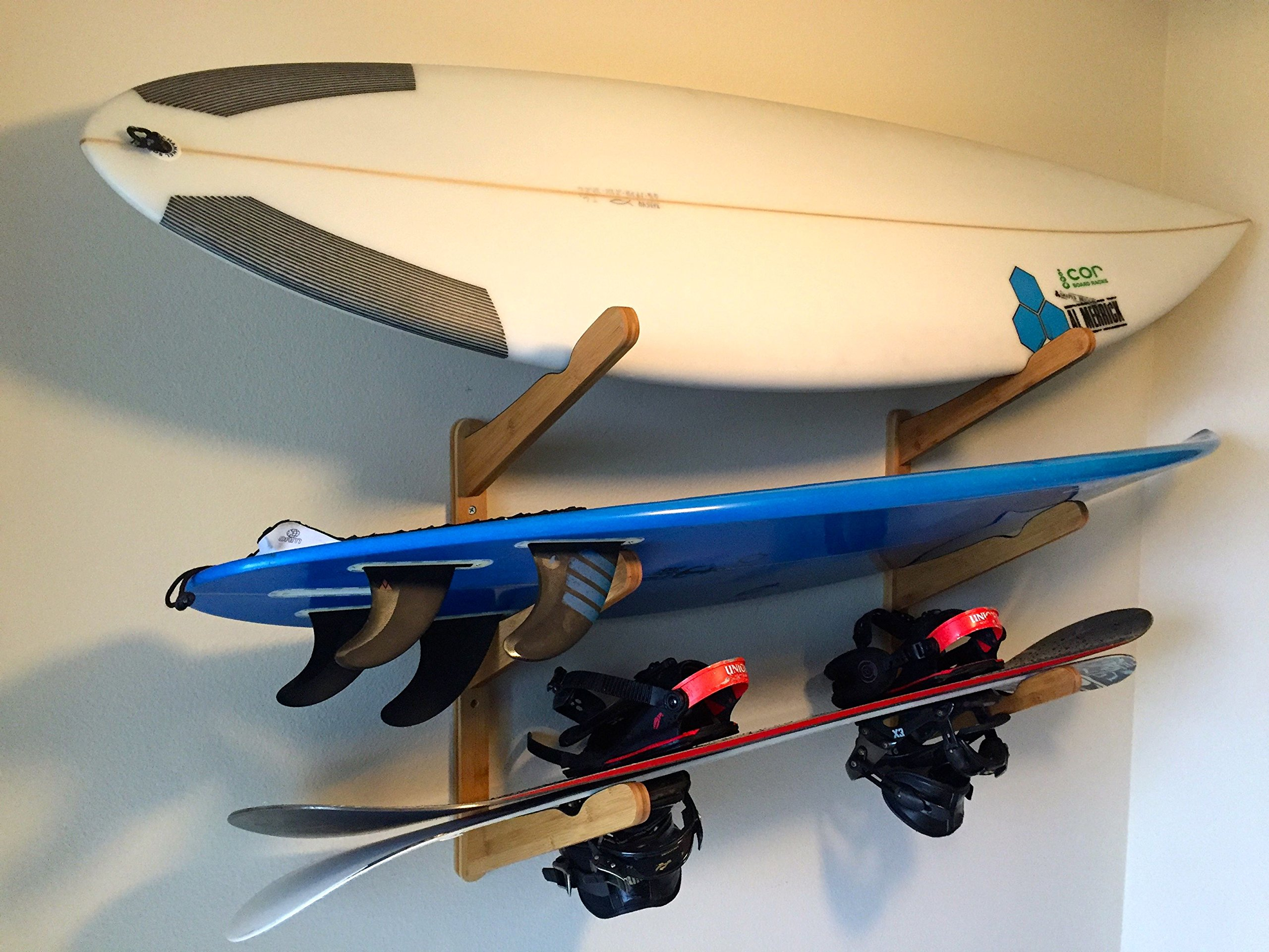 nz wall rack storage surfboard steel curve by quad display hero products