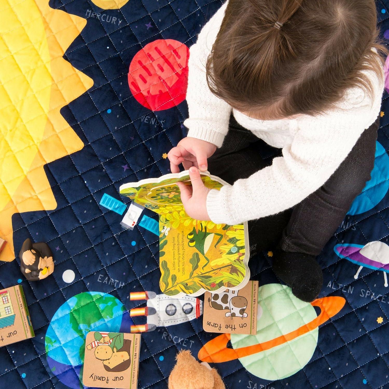 ... Alfombra Interactiva y Educativa del Espacio con Planetas, Cohetes y Estrellas para tu Pequeño Astronauta - Decoracion Perfecta para Niños y Niñas!