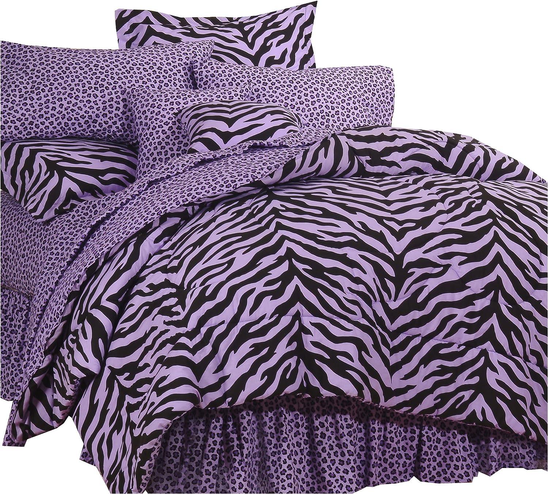 Karin Maki Purple Zebra Print Bed in a Bag - Twin