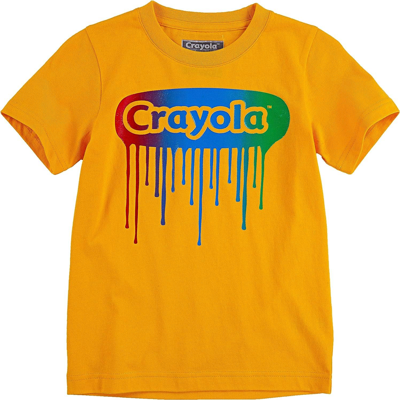 Crayola Children's Apparel Boys' Short Sleeve Graphic Logo Crewneck T-Shirt Tee