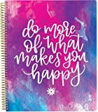 """bloom daily planners All in One Ultimate Monthly & Weekly Undated Calendar Planner, Notebook, Sketch Book, Grid Pages, Coloring Book and More! 9"""" x 11"""" Do More of What Makes You Happy"""
