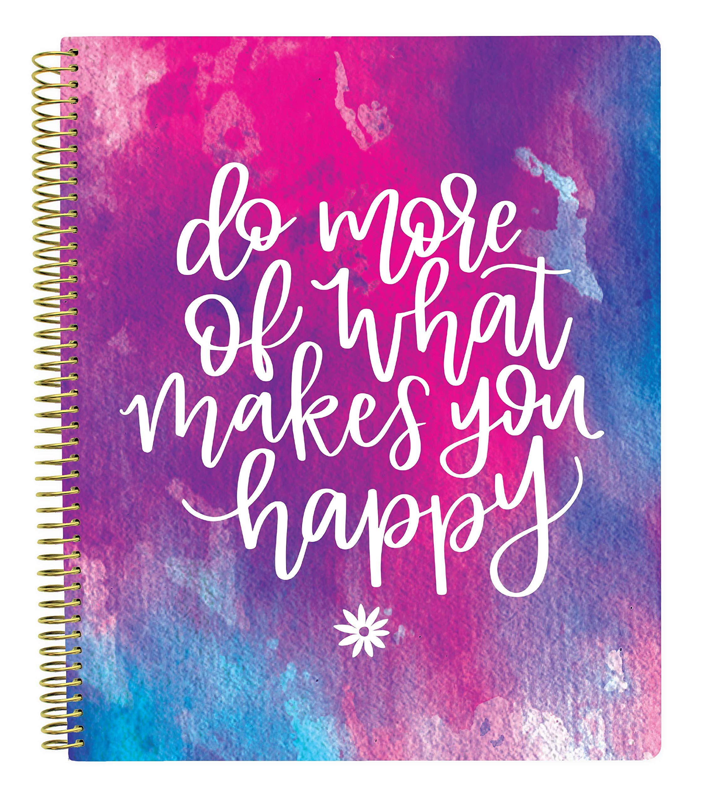 Bloom Daily Planners All in One Ultimate Monthly & Weekly Planner, Notebook, Sketch Book, Grid Pages, Coloring Book and More! 9'' x 11'' Do More of What Makes You Happy