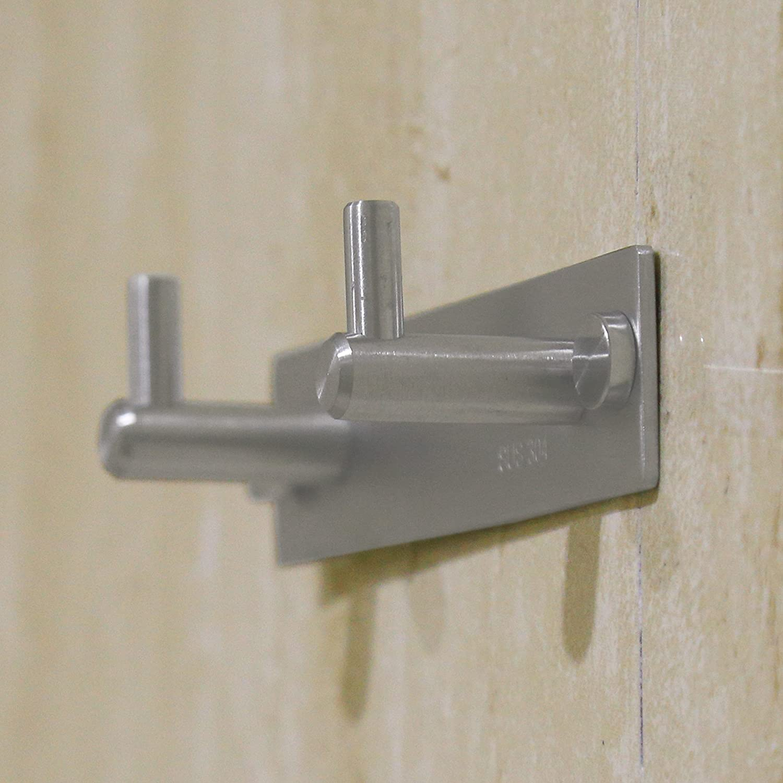 Brushed Finish Hallways Office Storage /& Organization L-YZ04 WEBI Heavy Duty SUS 304 Coat Bath Towel Hook Hanger Rail Bar with 4 Hooks Bathroom Entryway Foyers Great Home for Bedroom