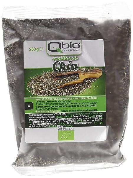 Qbio Semillas de Chía - 6 Paquetes - [pack de 3]