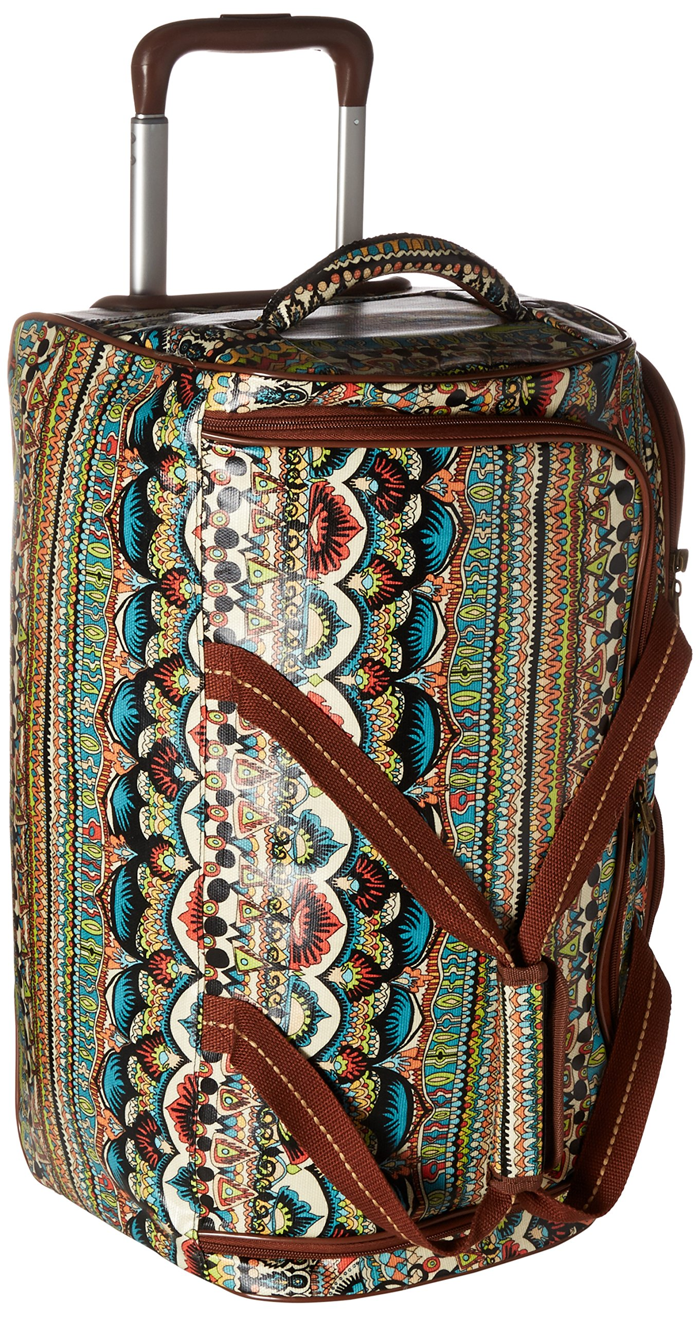 Sakroots Women's Artist Circle Rolling Duffle, Natural One World