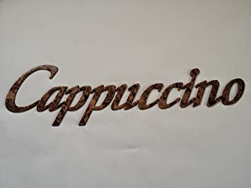 Cappuccino Word Metal Wall Art Kitchen Home Decor