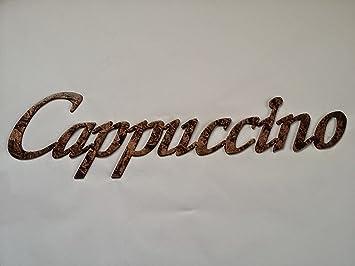 Cappuccino Word Metal Wall Art Kitchen/Home Decor