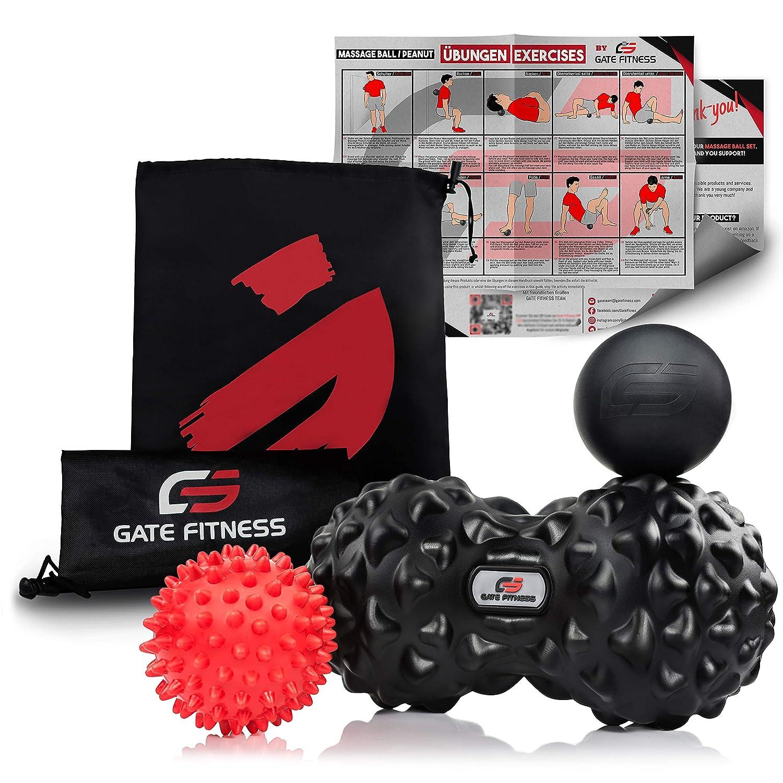 Peanut Duoball Faszienrolle I Doppel-Massageball Set für Selbstmassage