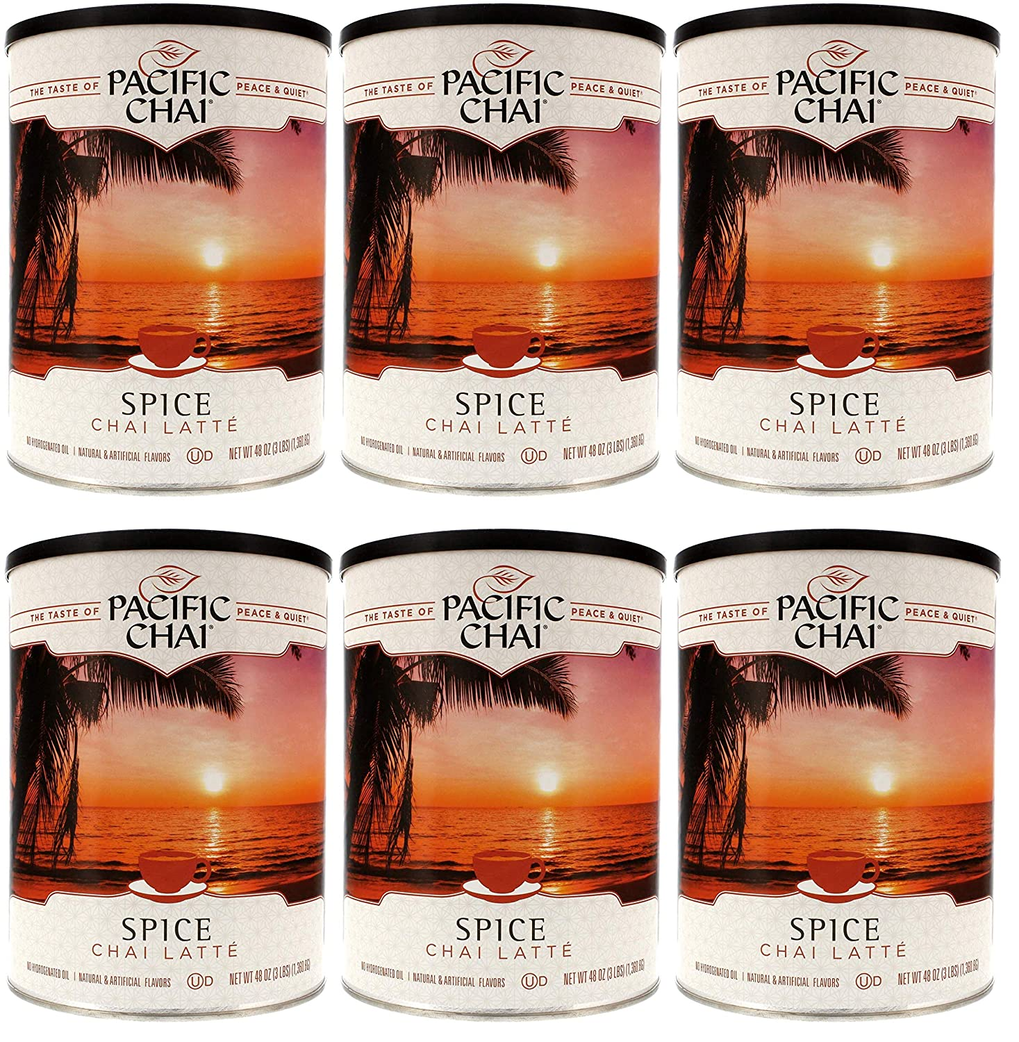 Pacific Chai Vanilla Instant Powdered Chai mix Packaging may vary 48oz canister