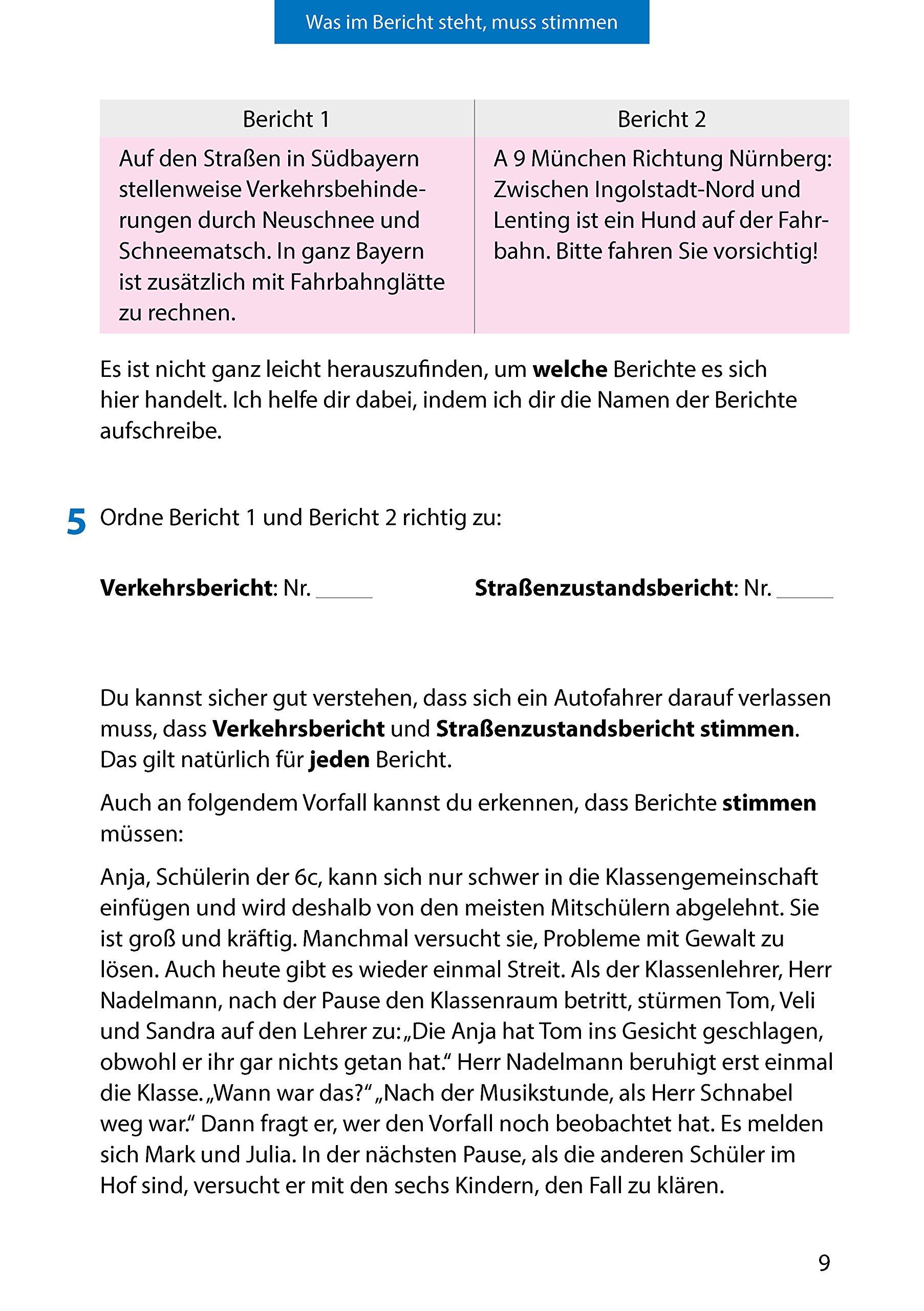 Bericht. Aufsatz 5.-7. Klasse: Amazon.de: Gerhard Widmann, Martina ...