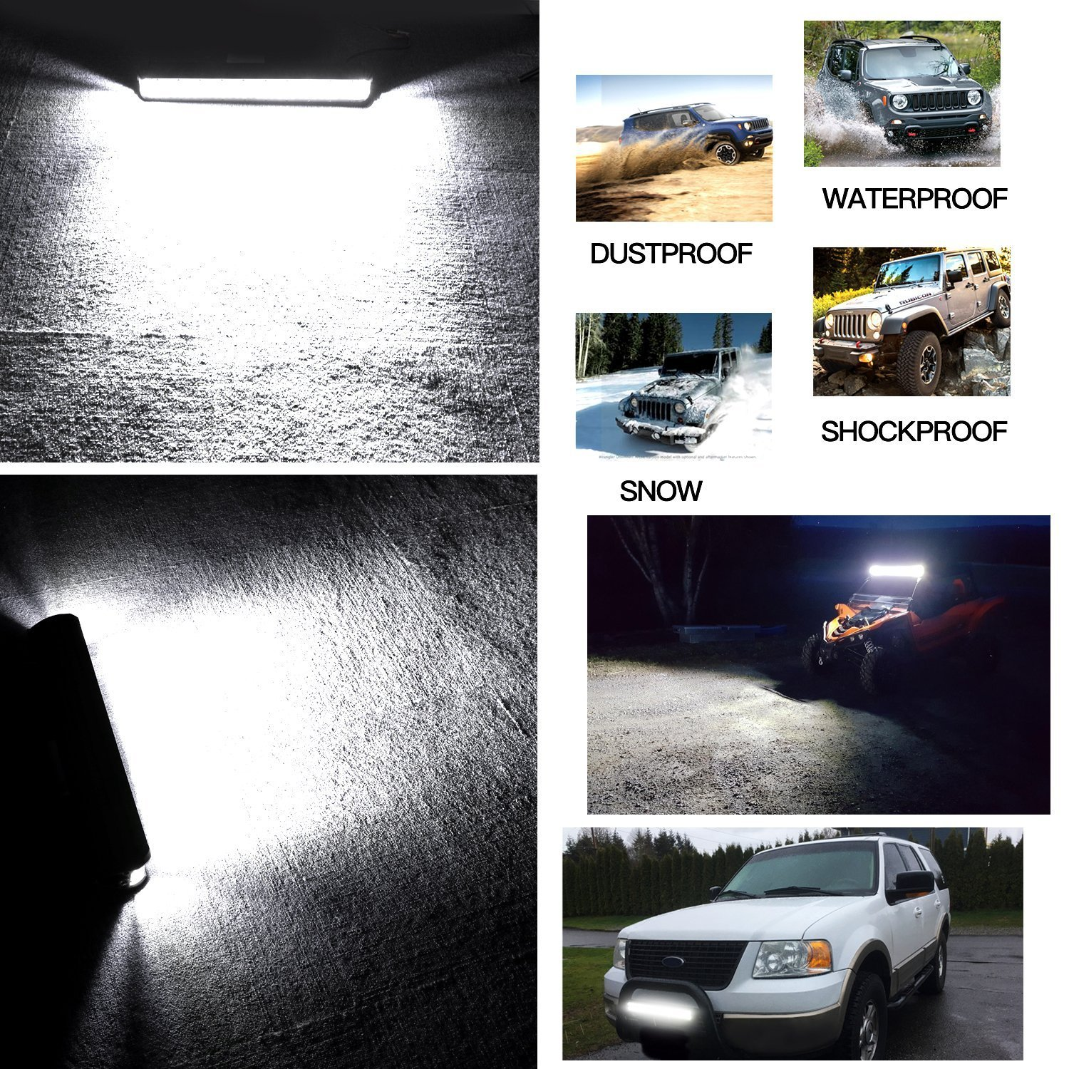 Side Shooter Led Light Bar Offroadtown 20 270w Star Wiring Diagram Off Road Lights Driving Fog Osram Work Waterproof For