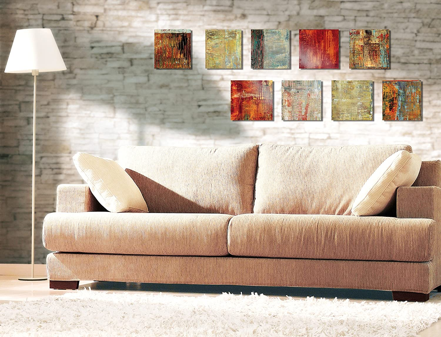 Stupell Home D/écor Abstract Art On Canvas Proudly Made in USA Stupell Industries TAW-104/_CAN/_9PC/_12X12 12 x 1.5 x 12 Set Of 9