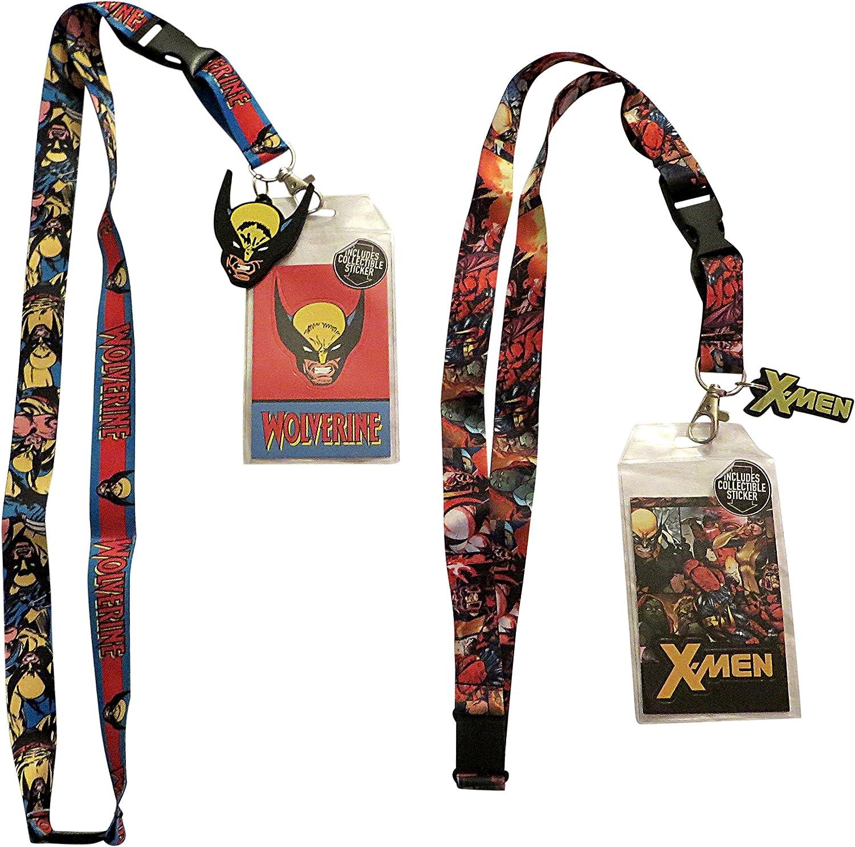Lobezno y x-Men insignia de identificación titulares paquete de 2 ...