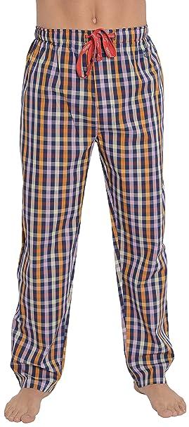Pantalón de Pijama Largo Moderno a Cuadros de Caballero/Ropa de Dormir para Hombre -
