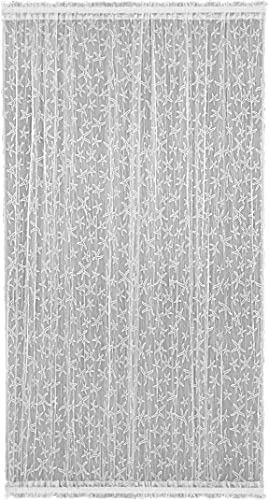 Heritage Lace Starfish Door Panel, 45 by 72-Inch, White