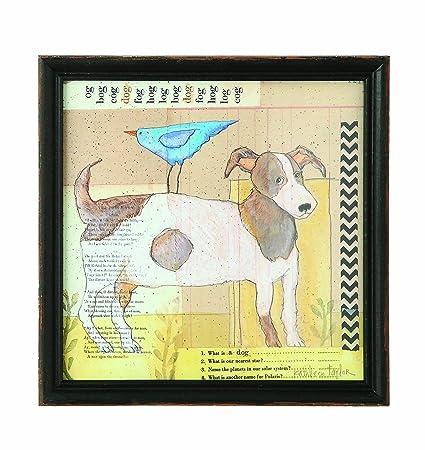 Amazon.com: Creative Co-op Wood Framed Dog Wall Decor: Posters & Prints