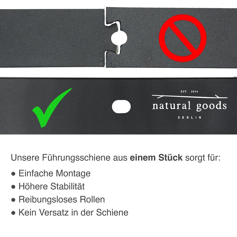 K/üchent/ür ModellT 200, Schwarz Barn Door Hardware Scheunentor SCHWARZ pulverbeschichtet 2m Natural Goods Berlin SCHIEBET/ÜRSYSTEM mehrere Modelle Beschlag Raumtrenner